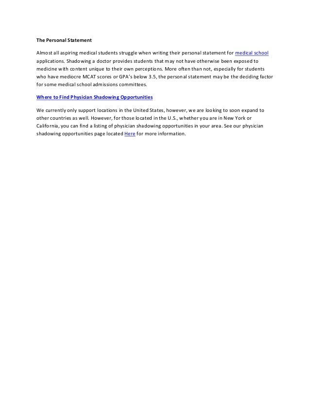 Shadowing A Physician Essay Format - image 3