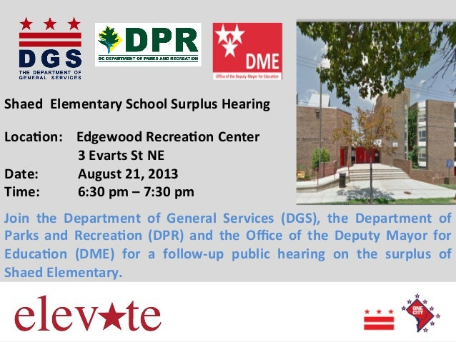 Shaed Elementary School Surplus Flyer