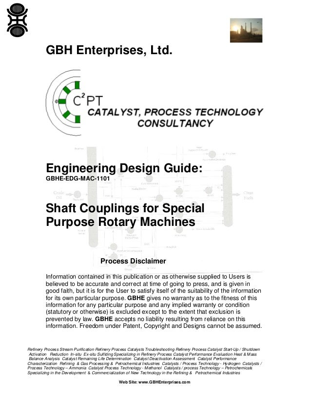 Shaft Couplings for Special Purpose Rotary Machines