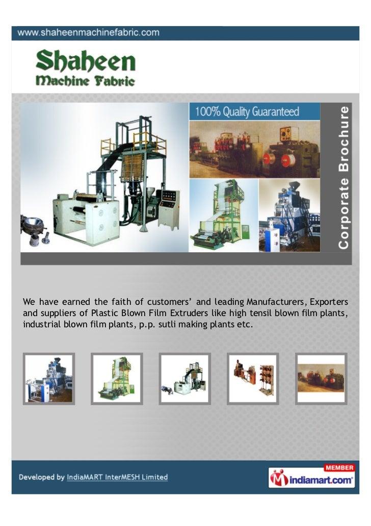 Shaheen Machine Fabric, Noida, Blown Film Plant