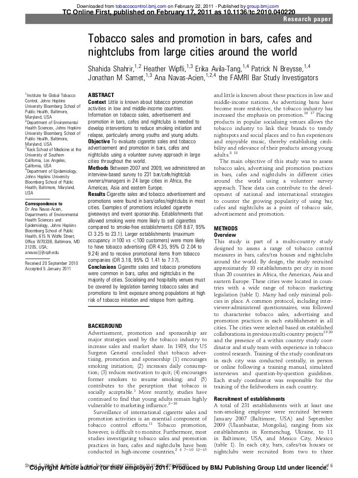 Downloaded from tobaccocontrol.bmj.com on February 22, 2011 - Published by group.bmj.com                     TC Online Fir...