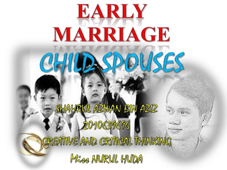 What is the earlymarriage??    ??             Early marriage refers                 to any form of              marriage t...
