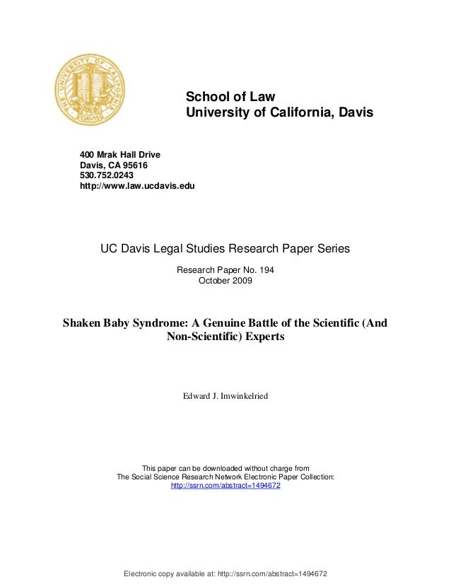Shaken baby law review ssrn id1494672