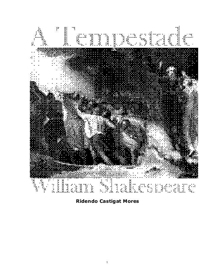 Shakespeare a-tempestade