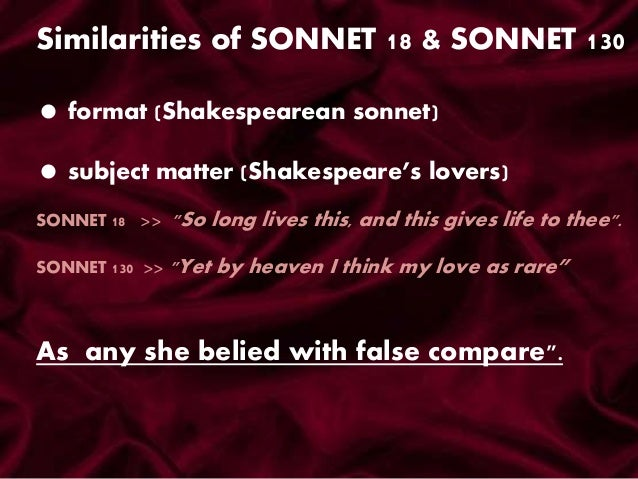 a comparison of daniels sonnet 6 and shakespeares sonnet 130