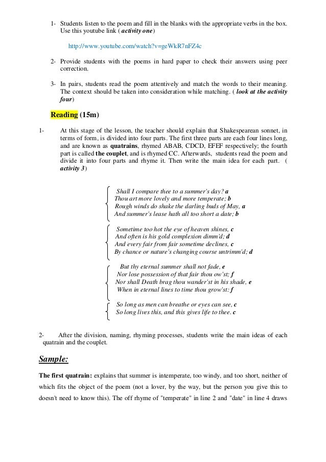 Sonnet  Analysis Essay  Commentsminimizingcf Sonnet  Analysis Essay