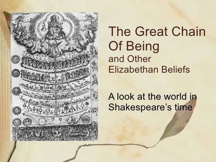 elizabethan england the great chain Scheme of work elizabethan england, c1568–1603 this resource gives you one example of a scheme of work for teaching elizabethan england, c1568–1603 depth.