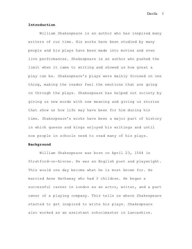 biography essay format