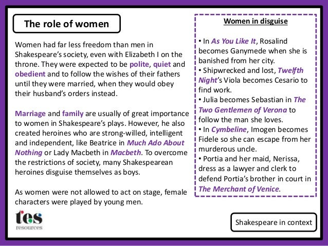 considering the female role in the play hamlet as opposed to male roles Most famous & favourite roles in theatre shakespeare characters include richard iii, macbeth & hamlet also hedda gabler, uncle vanya & medea.