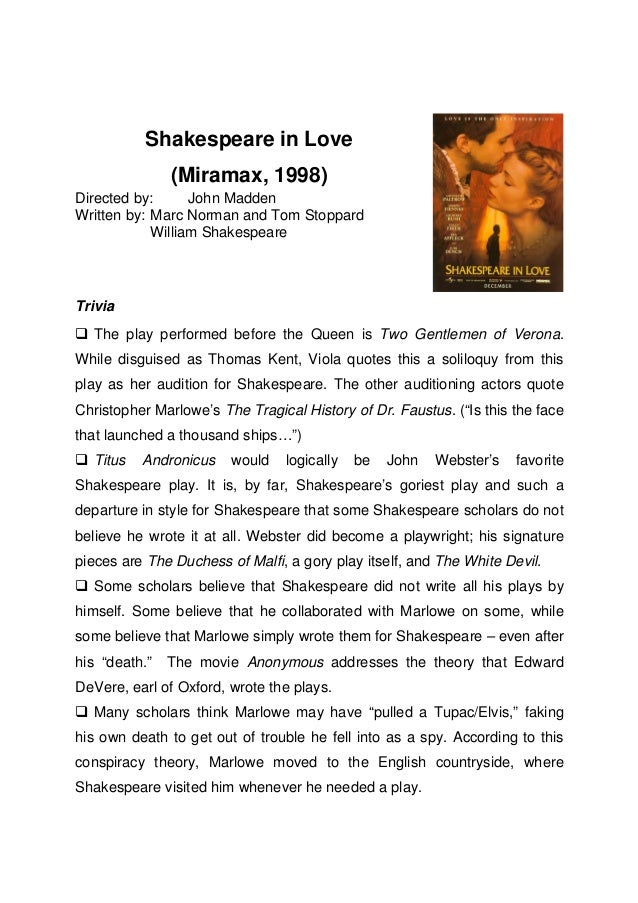 Shakespeare in love_movie_information_sheet
