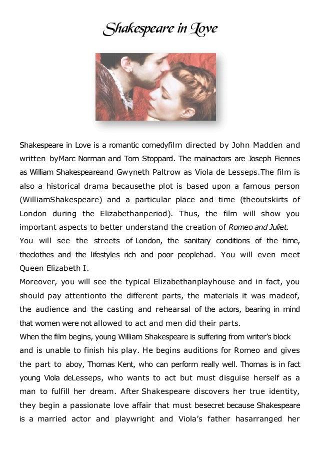 Shakespeare in love resume