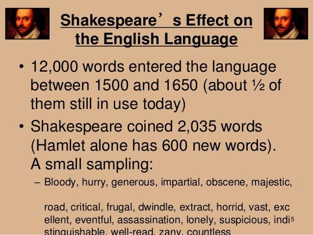 William Shakespeare english language