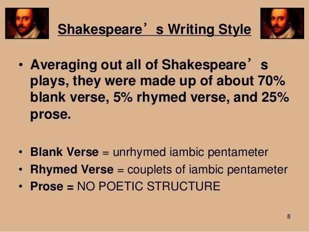 William Shakespeare use of language