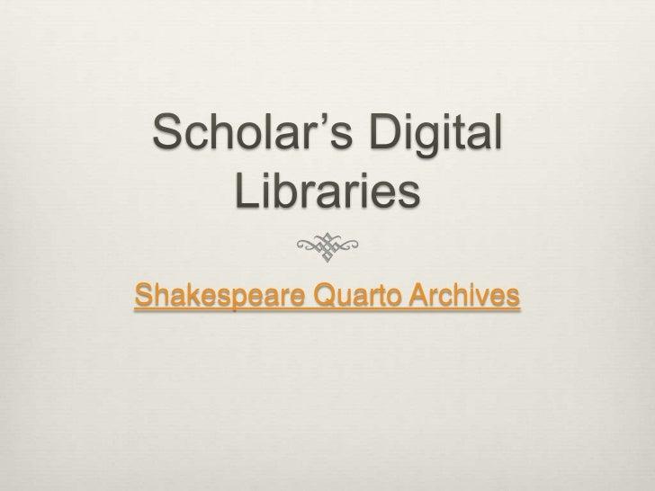 Shakespeare Quarto Archives