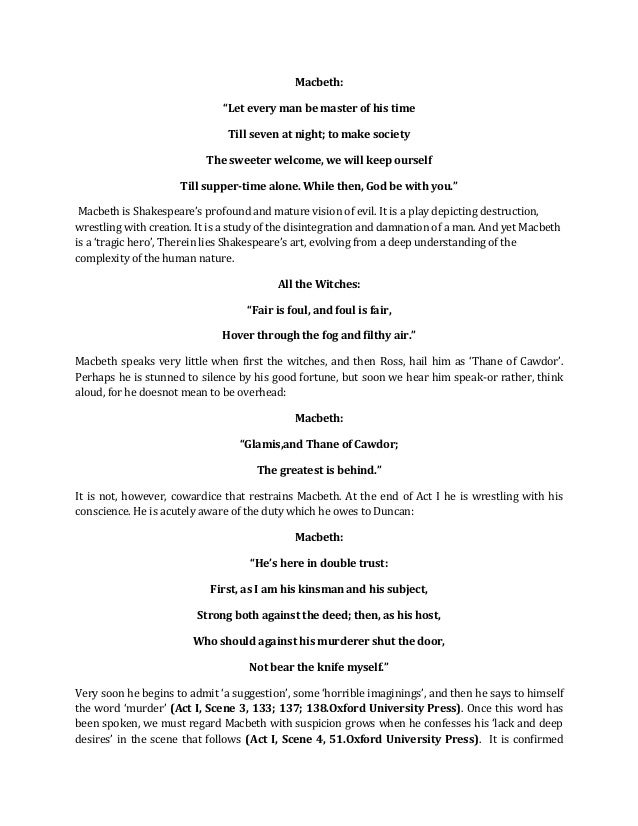 essay on macbeth act 1 Need help with act 4, scene 1 in william shakespeare's macbeth check out our revolutionary side-by-side summary and analysis.