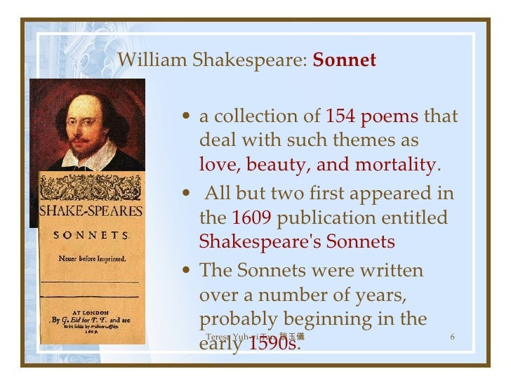 a literary analysis of sonnet number three by william shakespeare