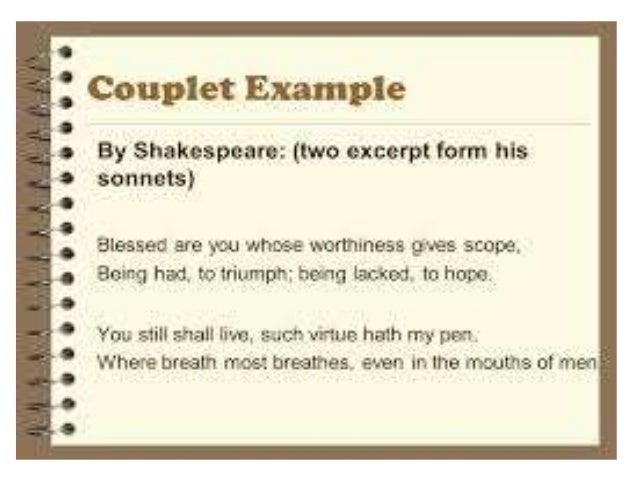 Shakespeare S Rhyming Couplet