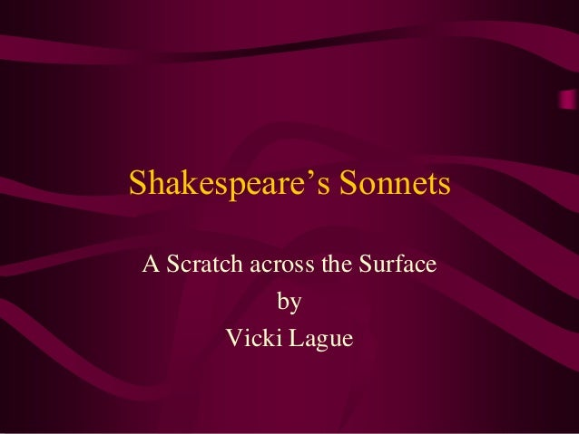shakespeares sonnets a view on Explore 'shakespeare's sonnets' and other related collection items, on the british library's website view all related collection items related people.