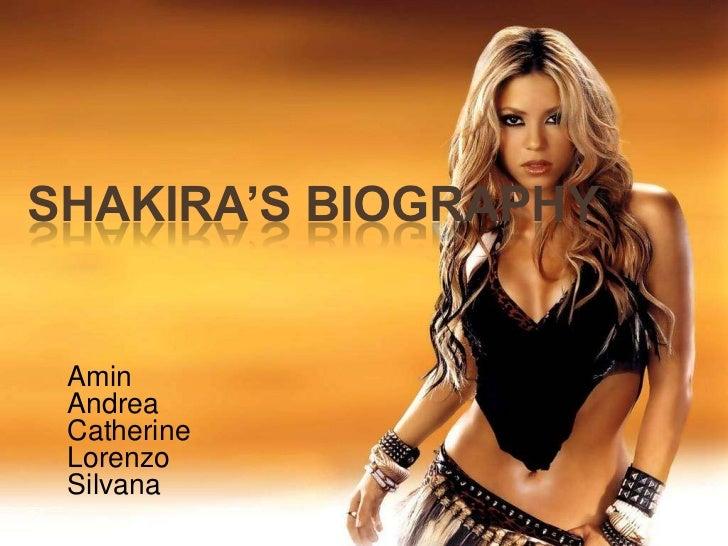 Shakira's biography