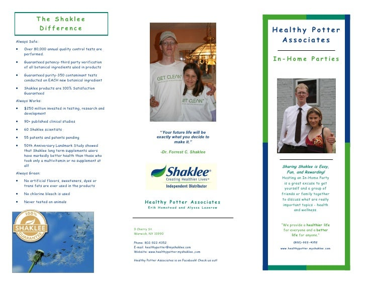 The Shaklee             Difference                                                                                        ...