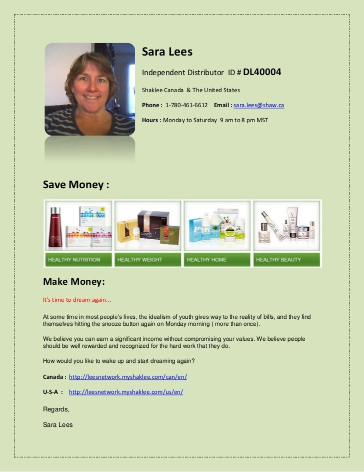 How to find a Shaklee independent distributor for Edmonton Alberta Canada.