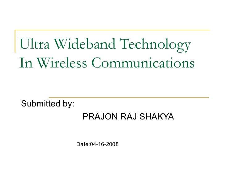 Wireless Broadband Technology&nbspTerm Paper
