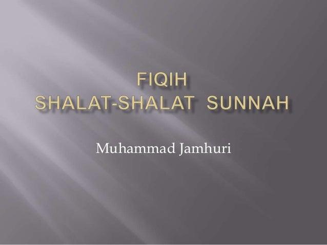 Fiqih Shalat sunnah