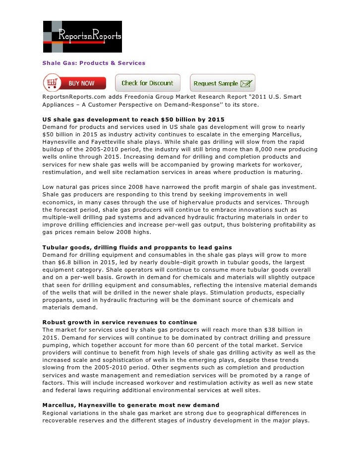 ReportsnReports - Shale Gas: Products & Services