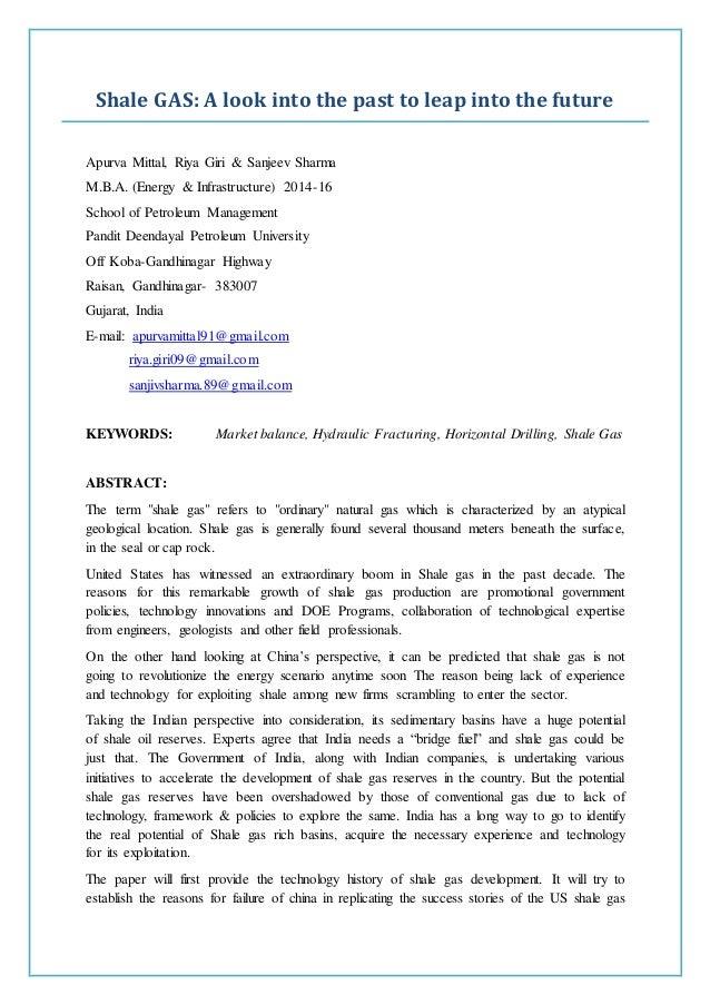 m.b.a. research paper