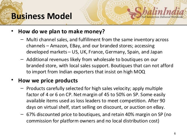 online gift shop business plan
