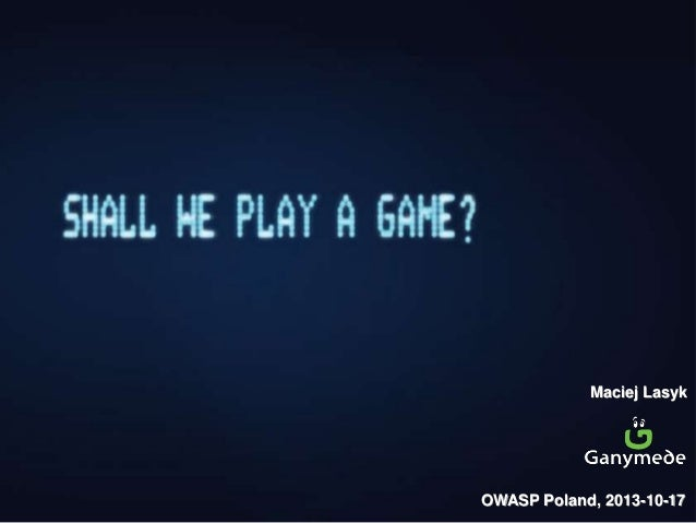 Shall we play a game? PL version