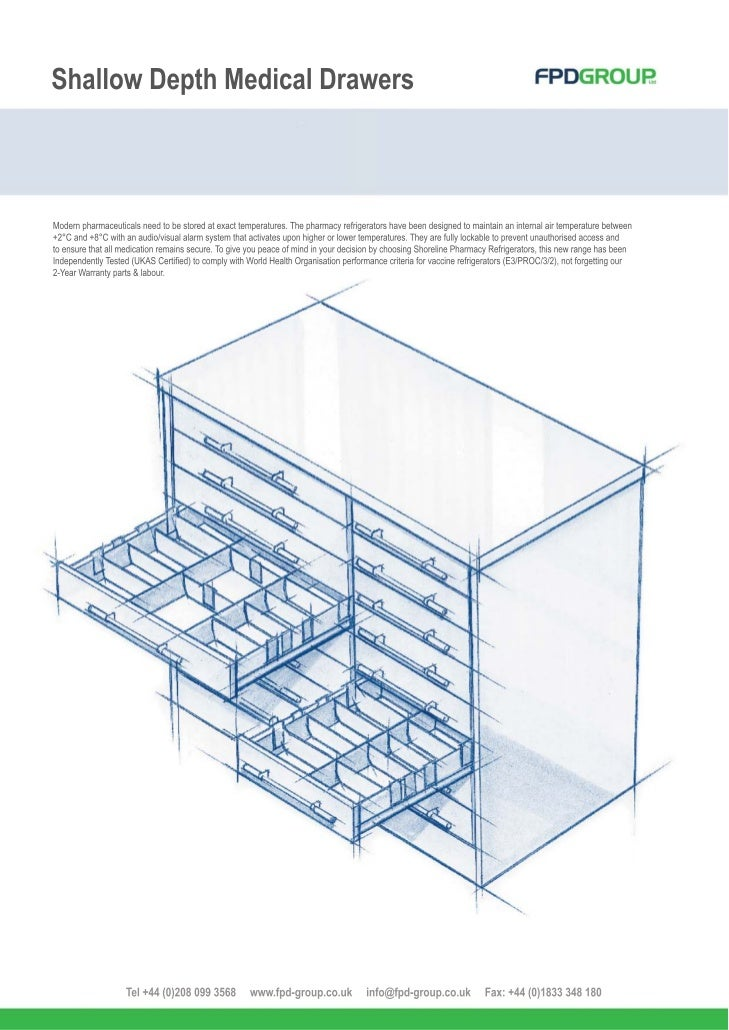 FPD Pharmacy Shallow Drawer System