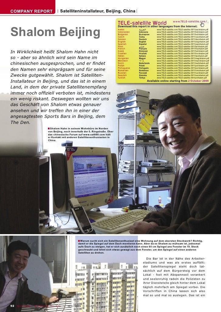 COMPANY REPORT                         Satelliteninstallateur, Beijing, China                                             ...