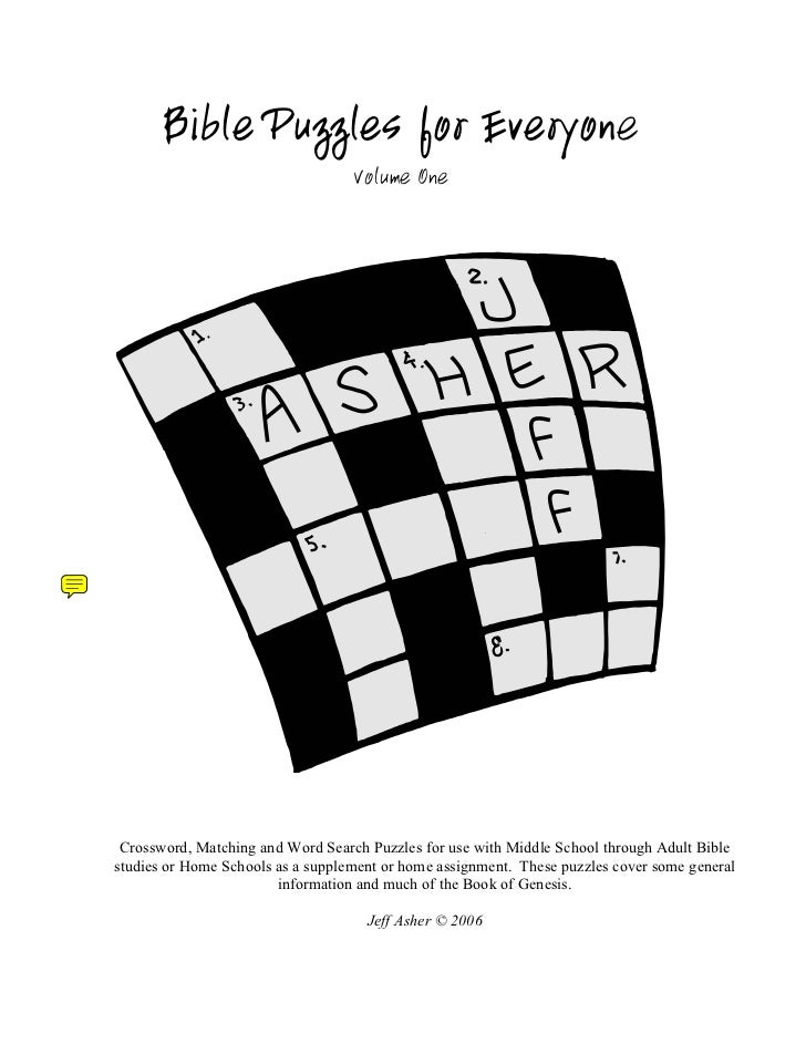 Bible Puzzles for Everyone                                   Volume One Crossword, Matching and Word Search Puzzles for us...