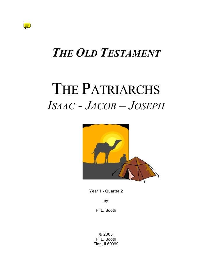 Shalom old testament the beginning year 1 2011, session 2 june thru sept