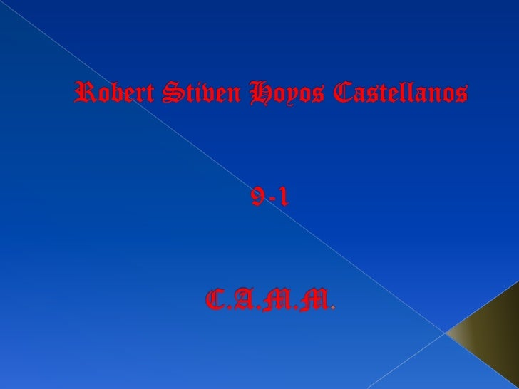 Robert Stiven Hoyos Castellanos9-1C.A.M.M.<br />