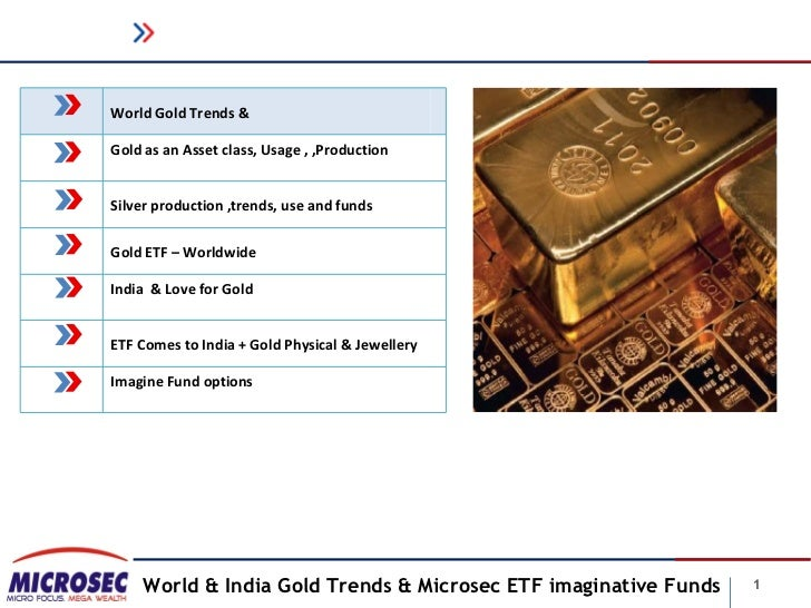 World Gold Trends &Gold as an Asset class, Usage , ,ProductionSilver production ,trends, use and fundsGold ETF – Worldwide...