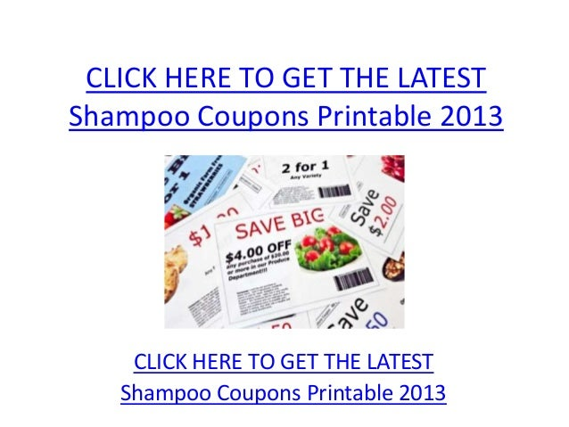 Shampoo Coupons Printable 2013 - Shampoo Coupons Printable 2013