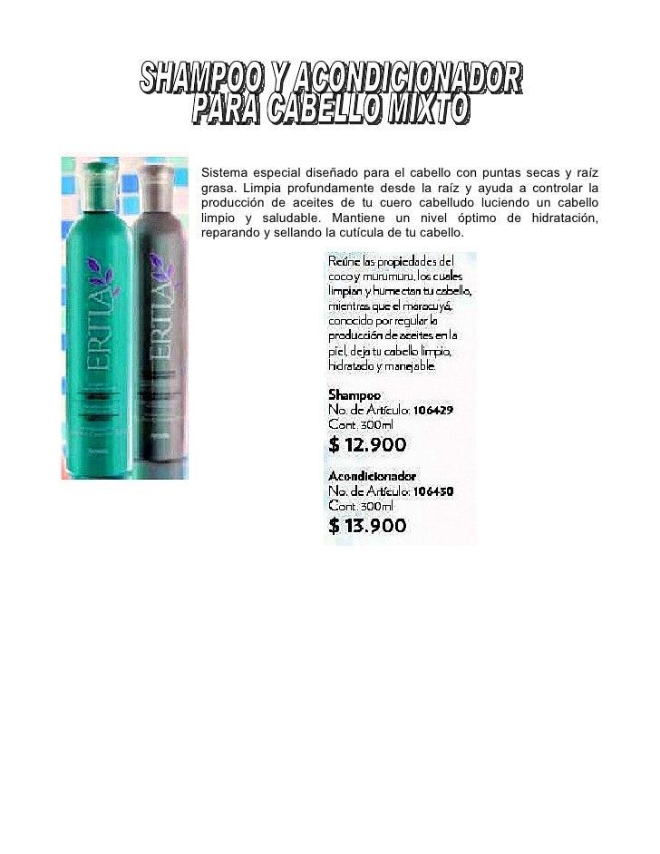 Shampoo Y Acondicionador Cabello Mixto