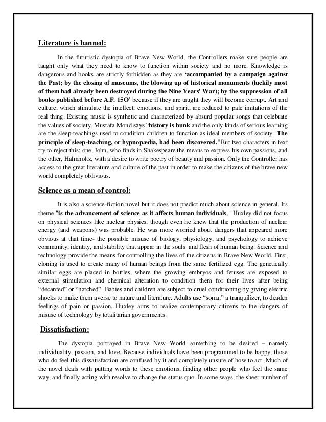 a research paper on aldous huxleys book brave new world The paperback of the brave new world by aldous huxley at barnes & noble  a  powerful work of speculative fiction that has enthralled and.