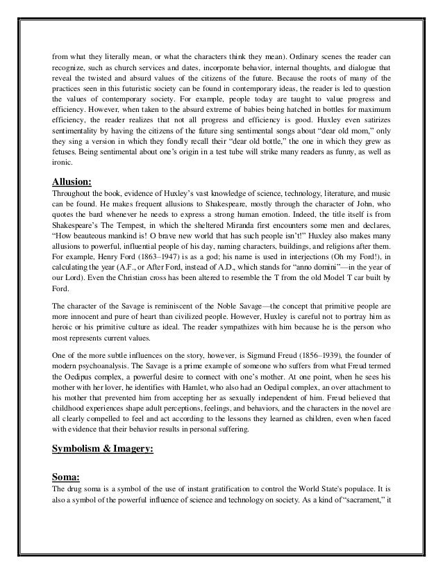 satire in brave new world English essays: presentation of satire in brave new world presentation of satire in brave new world this essay presentation of satire in brave new world and other 63,000+ term papers.
