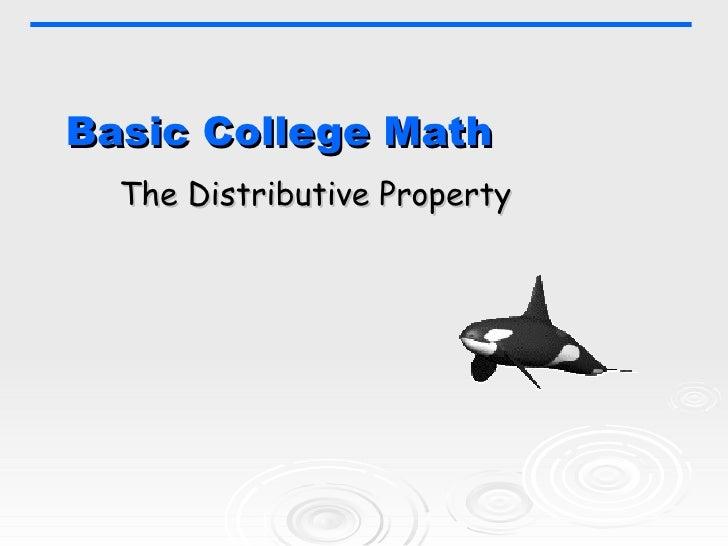 Basic College Math The Distributive Property