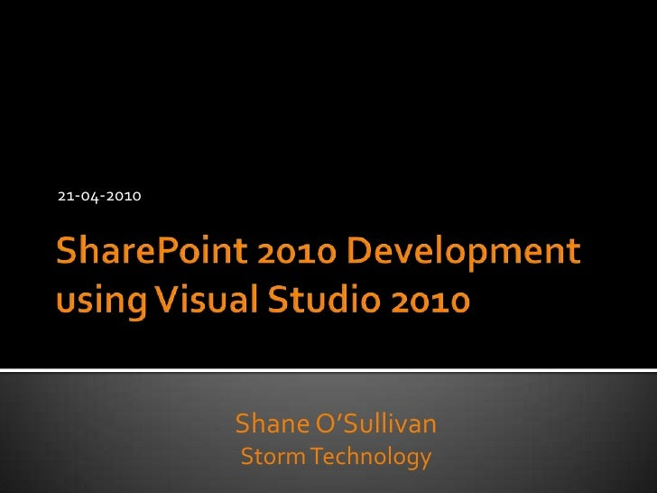 Visual Studio 2010 for SharePoint Developers