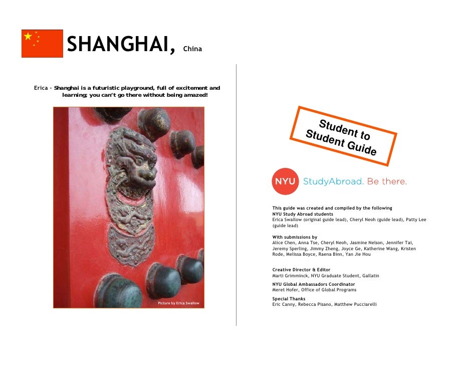 Shanghai Guide by NYU Students