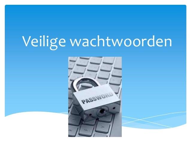 Veilige wachtwoorden