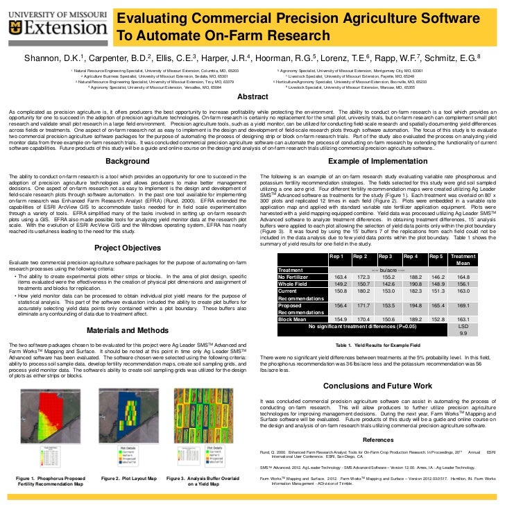 Evaluating Commercial Precision Agriculture Software                                                         To Automate O...