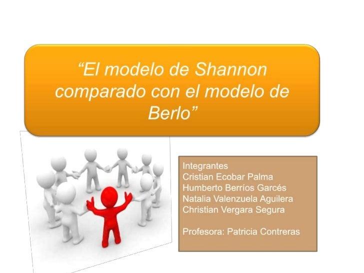 El modelo de Shannon comparado con el modelo de David Berlo