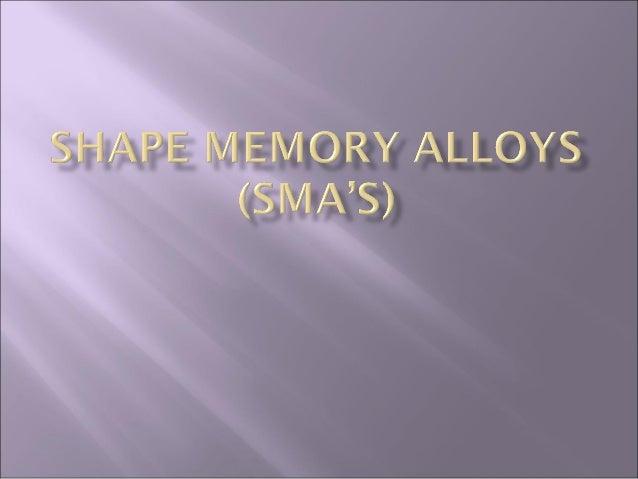 Shape memory-alloys