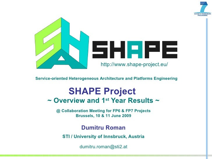 SHAPE Project  ~ Overview and 1 st  Year Results ~ Dumitru Roman STI / University of Innsbruck, Austria [email_address] @ ...