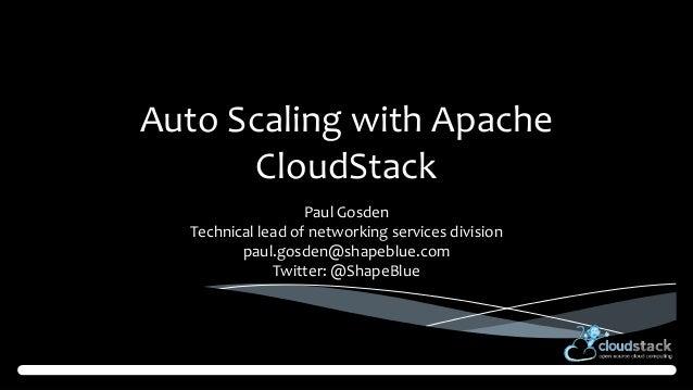 Cloudstack autoscaling